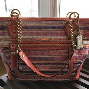Coach Multicolor sequin pink/purple/white handbag